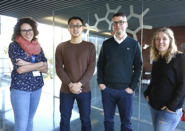 From left to right: A.M. del Hoyo, Z. Wang, M.G. Suero and A. Herraiz